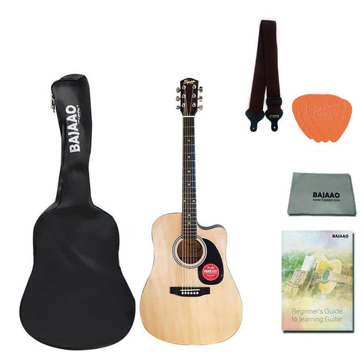 Fender Squier SA-150C Dreadnought Acoustic Guitar with Dust Cover, Strap, Cloth, Picks & Ebook