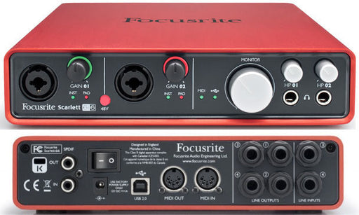 Focusrite Scarlett 6i6 USB Audio Interface - Open Box