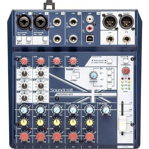 Soundcraft Notepad-8FX 8 Channel Desktop Mixer with USB