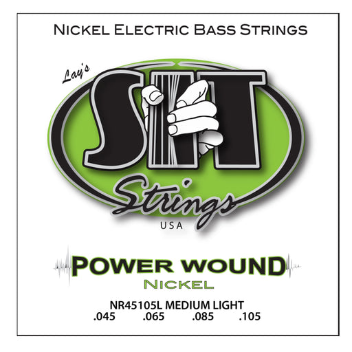 SIT Strings NR45105L Medium-Light Power Wound Nickel Bass Guitar Strings