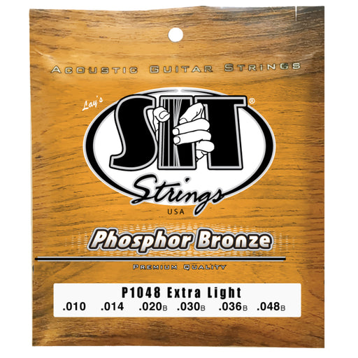 SIT Strings P1048 Extra Light Phosphor Bronze Acoustic Guitar Strings