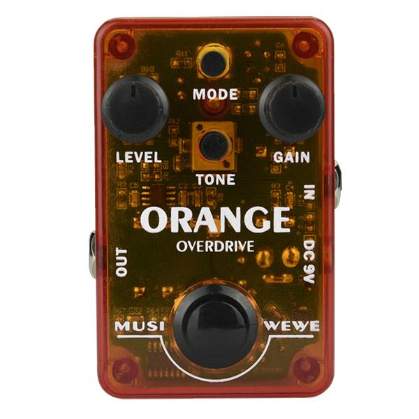 SKS Audio Musiwewe Overdrive Guitar Effect Pedal - Orange
