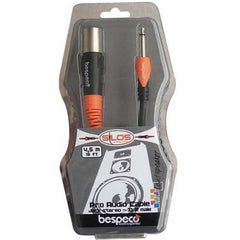 Bespeco SLJM600 Jack Mono To XLR 3 Pole Male - 6 Metres -Open Box