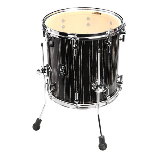 Sonor ProLite 12 1414 Floor Tom - Ebony White Stripes