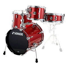 Sonor SSE 10 Safari Special Edition Acoustic Drum Shell Set - Red Galaxy Sparkle