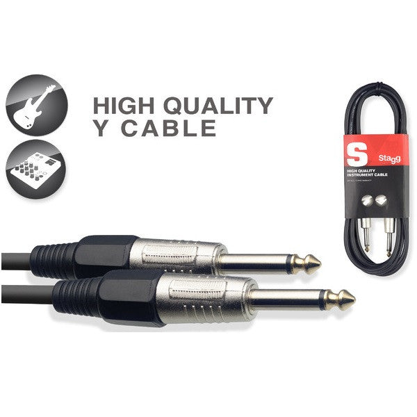 Stagg SGCC6 DL Coiled Instrument//Guitar Cable 6 Mtr
