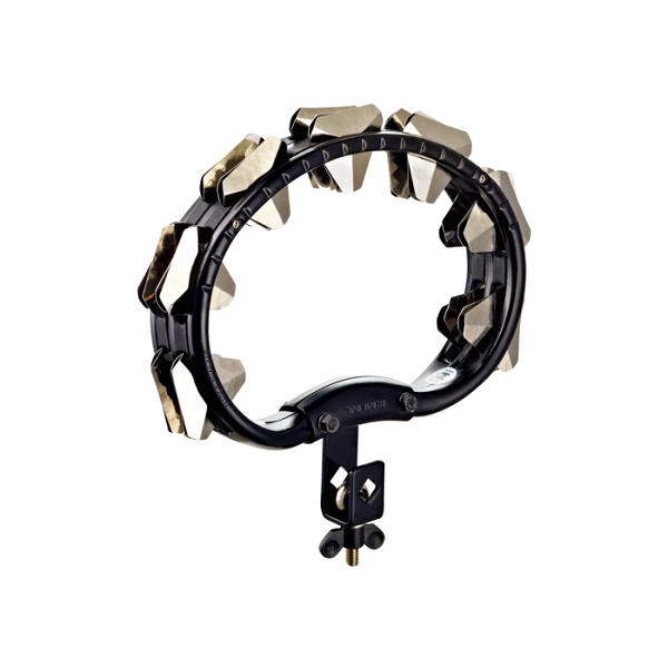 Meinl Percussion STMT2S-BK Plastic Mountable Super Dry Tambourine