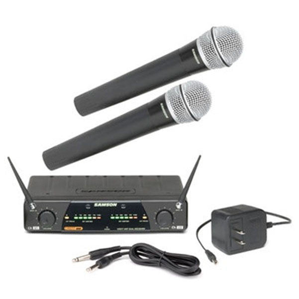 Samson CR277 Dual Channel UHF Wireless Microphone System