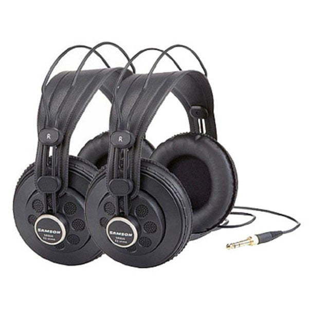 Samson SR850 Professional Studio Reference Headphones - 2 Pack
