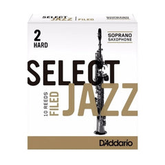 Rico Select Jazz Soprano Saxophone Reeds Filed - Hard