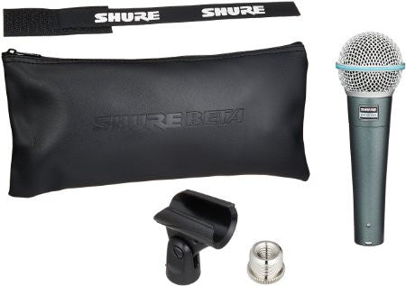 Shure Beta 58A Super Cardioid Vocal Dynamic Microphone
