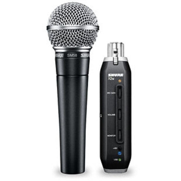 bajaao com buy shure sm58 x2u microphone with xlr to usb adapter online india musical. Black Bedroom Furniture Sets. Home Design Ideas