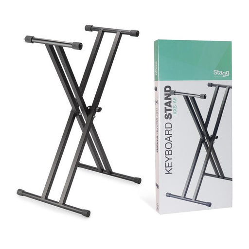 Stagg KXS-A6 Double Braced X-Frame Keyboard Stand (Black) - Open Box
