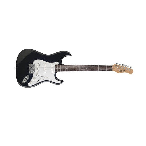 bajaao com buy stagg s250 bk standard s electric guitar black online india musical. Black Bedroom Furniture Sets. Home Design Ideas