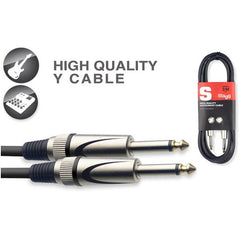 Stagg SGC3DL Deluxe Instrument Cable With Lifetime Warranty - 3 Metres
