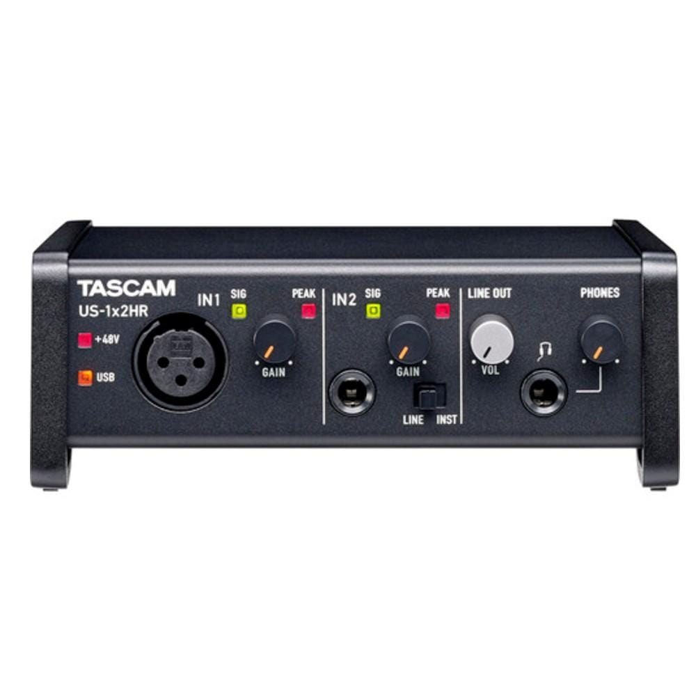 Tascam US-1x2HR 1 Mic 2IN//2OUT High Resolution Versatile USB Audio Interface US1X2HR