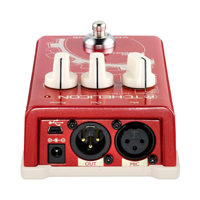 TC Helicon VoiceTone Mic Reverb, Delay, & Pitch Correction Effect Pedal