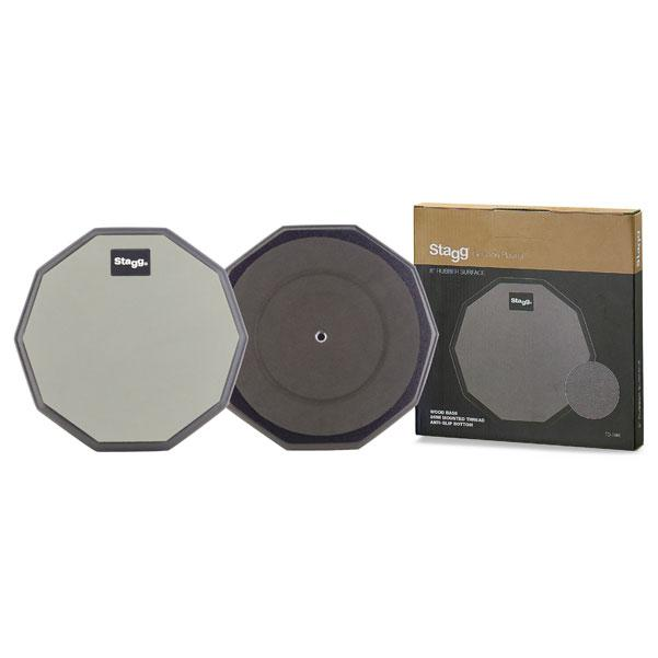 Stagg TD-08R 8 Inches Desktop Practice Pad 10 Sided shape