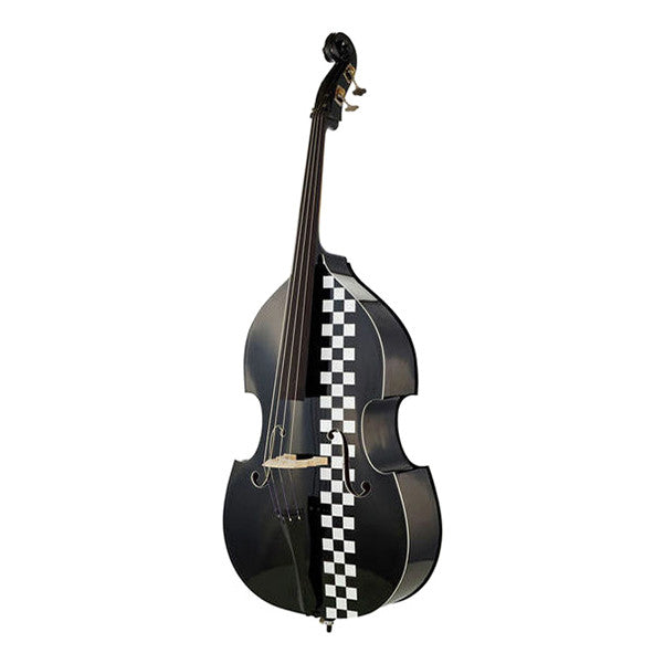 Thomann Black Cab Taxi Double Bass - Black with Chessboard