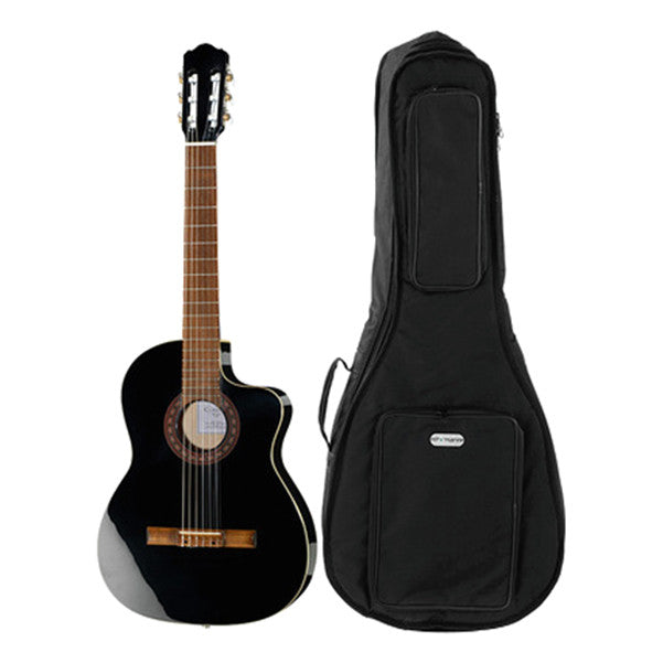 Thomann Classic-CE 4/4 Classical Guitar Bundle - Black High Gloss