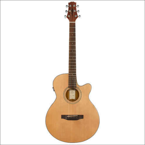 Ashton TK45SCEQ Acoustic/Electric Solid Cedar Top Guitar