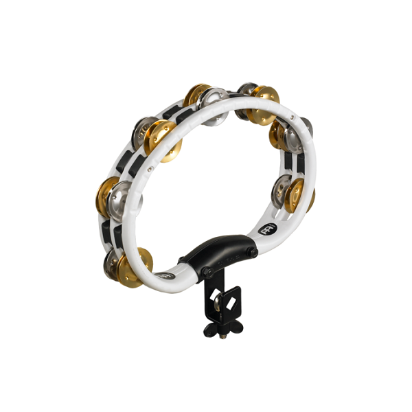 Meinl TMT2MWH Set-Up Tambourine and Dual Alloy Jingles - White