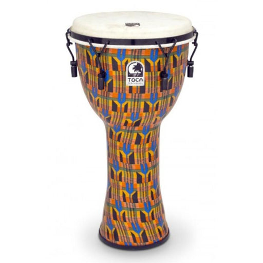 Toca SFDMX-12K 12 Inch Freestyle Mechanically Tuned Djembe- Kente Cloth