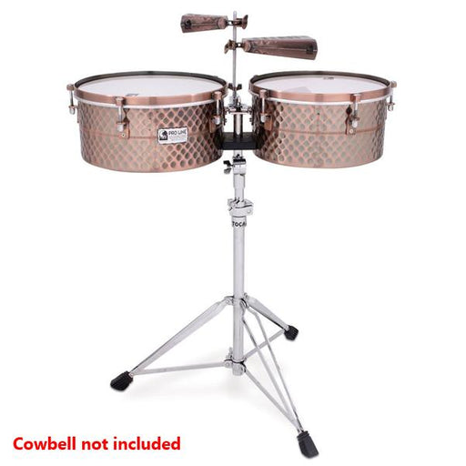 Toca TPT1415-BC Pro Line Timbale Set with Stand - Black Copper