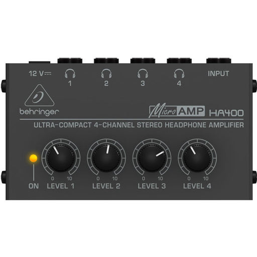 Behringer HA400 Ultra-Compact 4-Channel Headphone Amplifier