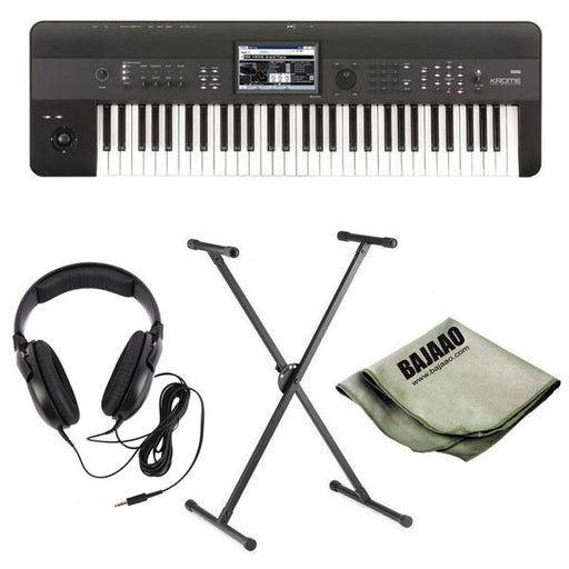 Korg Krome 61-Key Synthesizer Workstation Deluxe Bundle