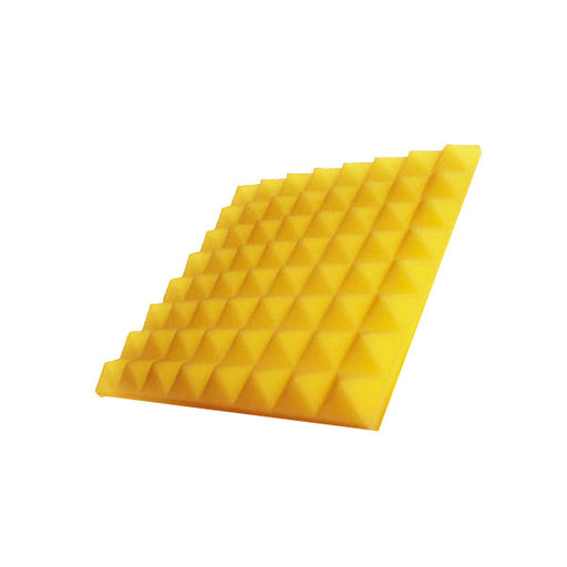 "Aurica Pyramid Sound Proofing Acoustic Foam Panel 6' x 3' x 2"" - Yellow"