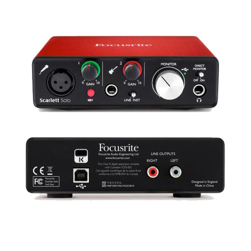 Focusrite Scarlett Solo 2in/2out Audio Interface - (2nd Gen) - Open Box