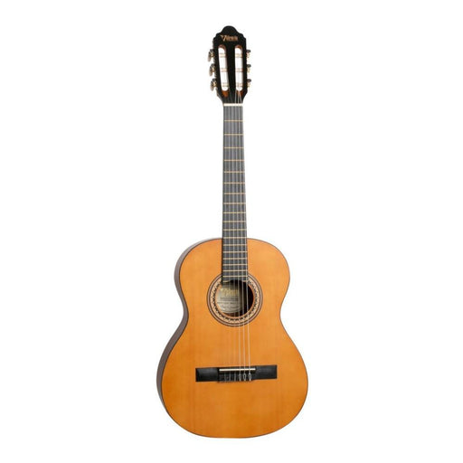 Valencia VC202 1/2 Size Transparent Satin Finish Classical Guitar - Antique Natural