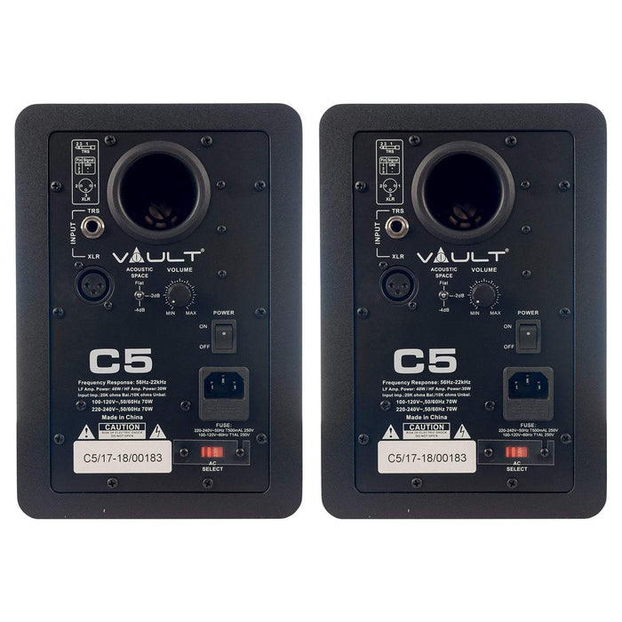 Vault C5 Powered Studio Monitors - 5 inch
