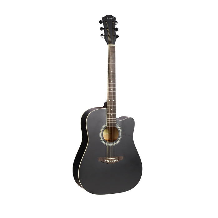 Vault ED-10C 41 inch Cutaway Acoustic Guitar with Bag, Strings, Straps, Picks, Stringwinder & Polishing Cloth