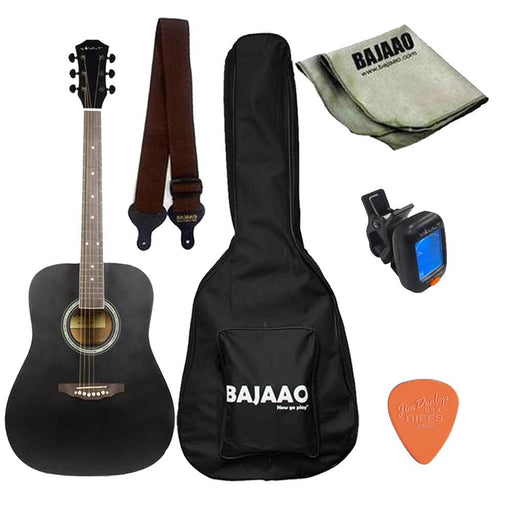 Vault ED-10D 41 inch Dreadnought Acoustic Guitar with Gig Bag, Picks, Strap, Tuner and Polishing Cloth