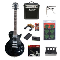 Vault LP1MN Les Paul Style Electric Guitar Deluxe Bundle