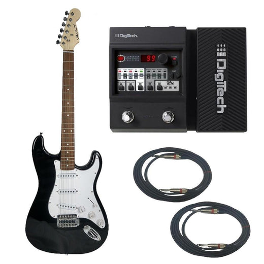Vault ST1RW Strat Style Electric Guitar Digitech Element XP ELMTXPV-01 Guitar Processor Bundle