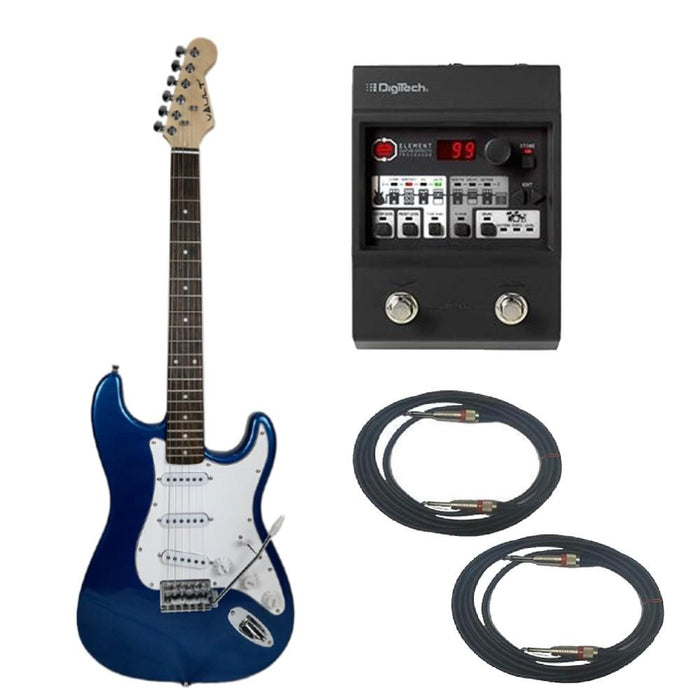 Vault ST1RW Electric Guitar Digitech Element Guitar Processor Bundle