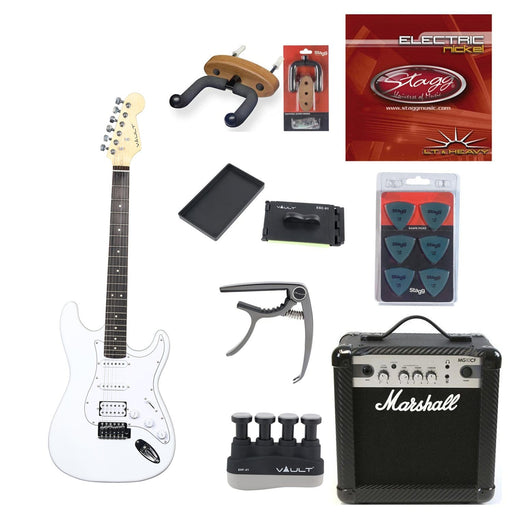 Vault ST1RW Electric Guitar Deluxe Bundle