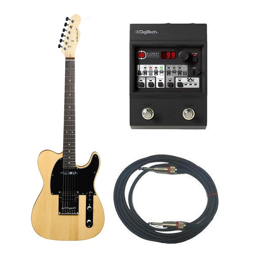 Vault TL1 Electric Guitar With DigiTech Element Guitar Processor Bundle - Natural