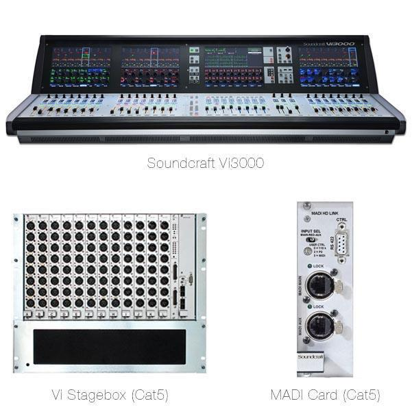 Soundcraft Vi3000 Digital Mixer, Vi Stagebox (Cat5)and MADI Card (Cat5) Special Bundle
