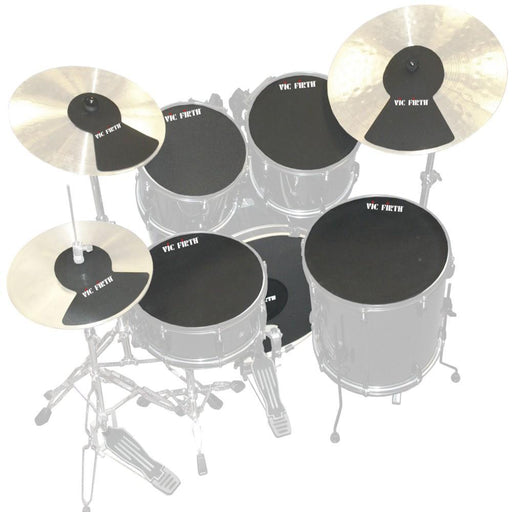 Vic Firth MUTEPP7 Drum and Cymbal Mute Pack - Set of 6