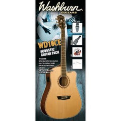 Washburn WD10CEPACK Dreadnought Acoustic Electric Pack