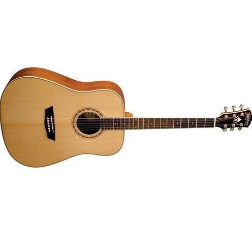 Washburn WD10SNS Dreadnought Acoustic Guitar - Natural Satin