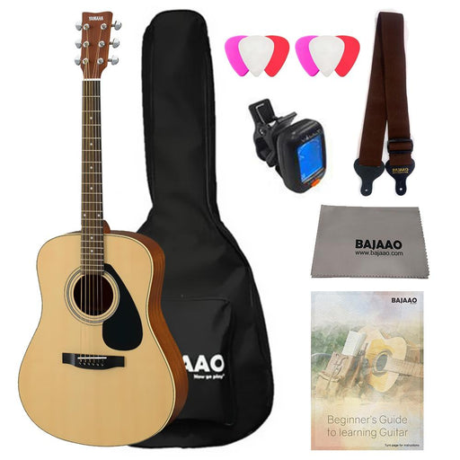 Yamaha F310 Premium Acoustic Guitar Bundle with Gigbag, Picks, Strap and Polishing Cloth
