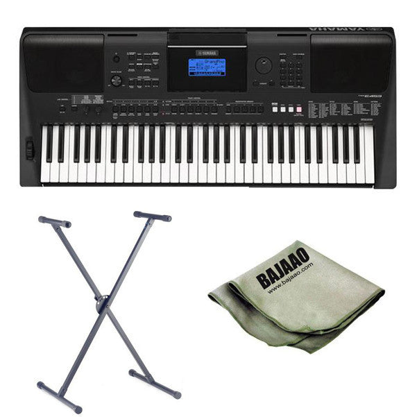 yamaha psr e453 61 key portable arranger keyboard with. Black Bedroom Furniture Sets. Home Design Ideas