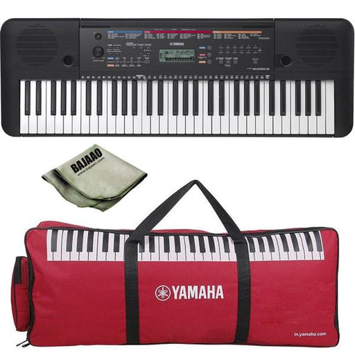 Yamaha PSR-E263 61-Key Portable Keyboard with Polishing Cloth and Gig Bag