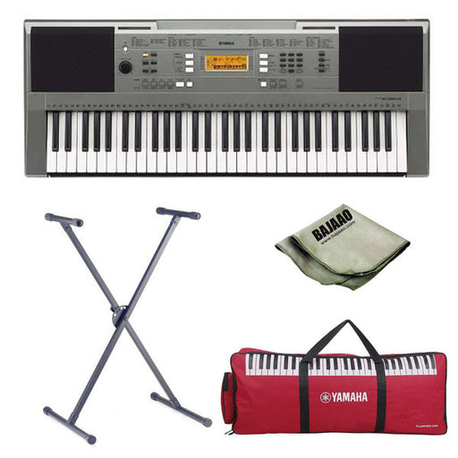 Yamaha PSR-E353 61-Key Touch Sensitive Keyboard with Stand, Polishing Cloth and Gig Bag