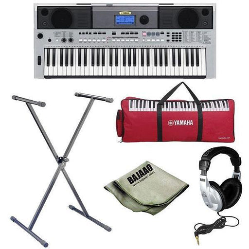 Yamaha PSR-I455 Portable Keyboard with Stand, Polishing Cloth and Headphones